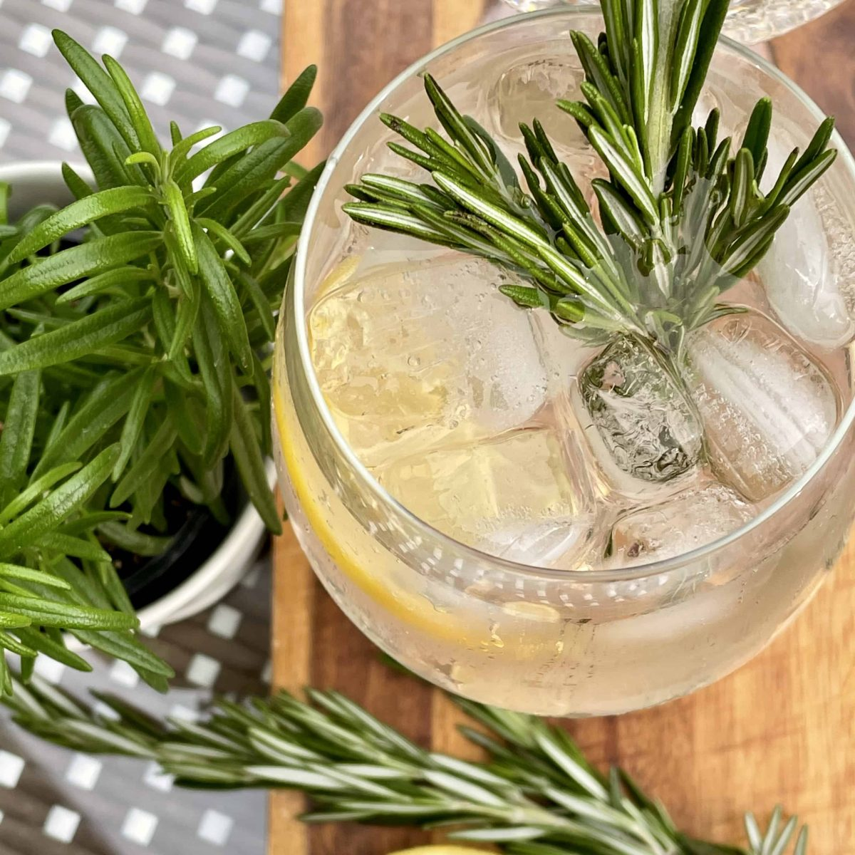 Rosé Spritz with Rosemary Infused Vodka Recipe