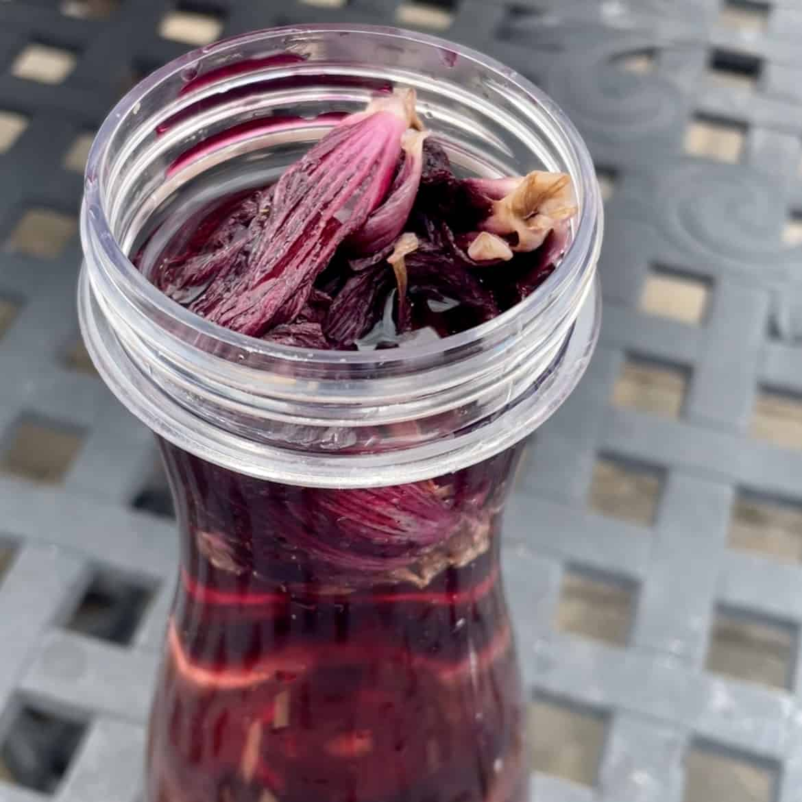 Fresh Hibiscus Flowers for Simple Syrup